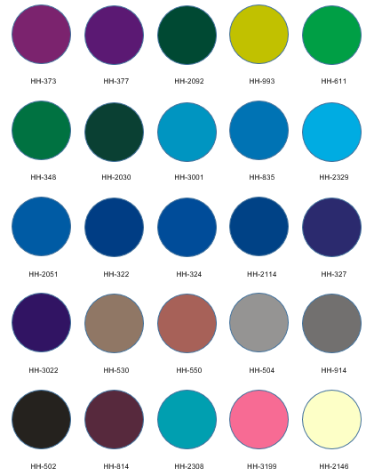 انواع رنگ های پلکسی رنگی اچ اچ سی